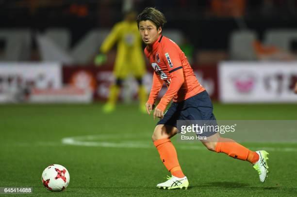 Genki Omae of Omiya Ardija in action during the JLeague J1 match between Omiya Ardija and Kawasaki Frontale at Nack 5 Stadium Omiya on February 25...