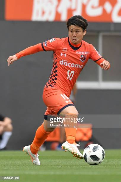 Genki Omae of Omiya Ardija in action during the JLeague J2 match between Omiya Ardija and JEF United Chiba at Nack 5 Stadium Omiya on May 6 2018 in...