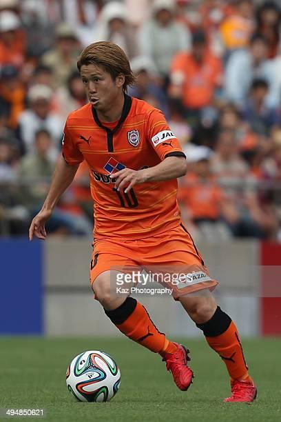 Genki Omae of Shimizu SPulse in action during the JLeague Yamazaki Nabisco Cup Group A match between Shimizu SPulse and Vissel Kobe at IAI Stadium...