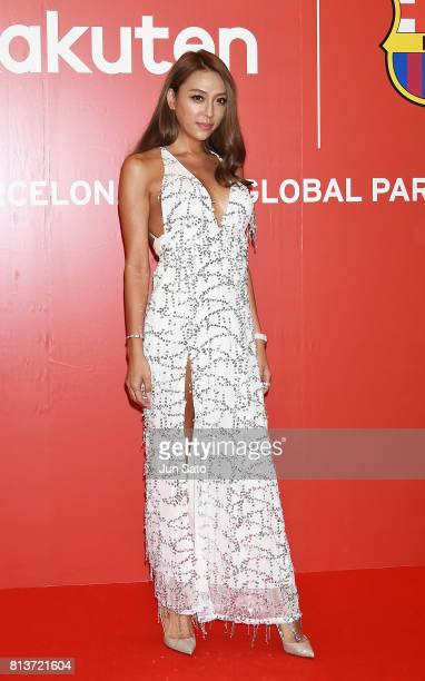 Genking arrives at the reception party for Rakuten FC Barcelona Global Partnership Launch on July 13 2017 in Tokyo Japan