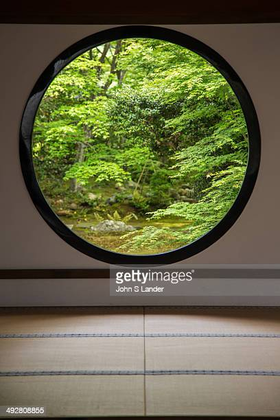 Genkoan garden plants and stones are arranged to create an elegant world of wabi and sabi The temple is famous for two large windows The Window of...