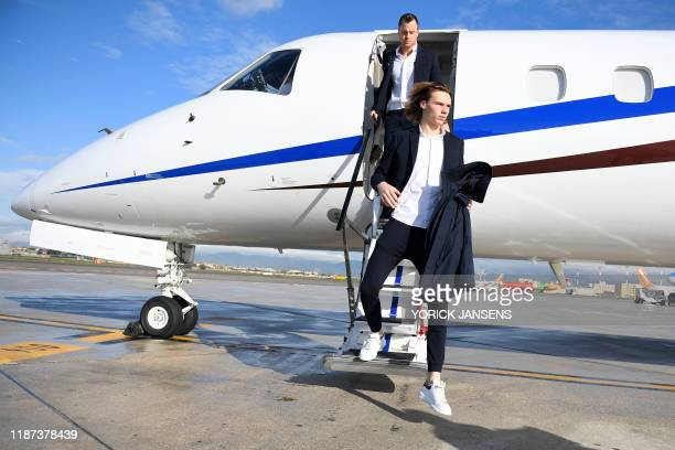 Genk's goalkeeper Maarten Vandevoordt pictured at the arrival of Belgian soccer team KRC Genk at the airport in Naples Italy Monday 09 December 2019...