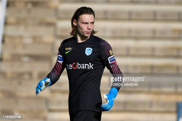 Genk's goalkeeper Maarten Vandevoordt pictured during a friendly soccer match between KRC Genk and German club FC Koln during their winter training...