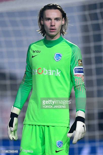 Genk's goalkeeper Maarten Vandevoordt pictured during a soccer game between Royal Antwerp FC and KRC Genk Tuesday 03 December 2019 in Antwerp in the...