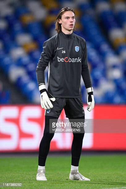 Genk's goalkeeper Maarten Vandevoordt pictured during a training session of Belgian soccer team KRC Genk in Naples Italy Monday 09 December 2019...