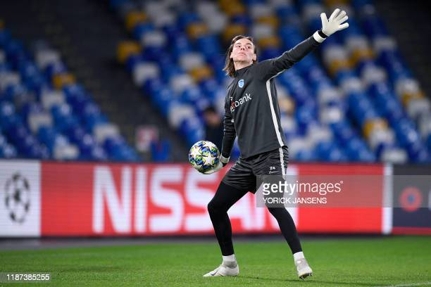 Genk's goalkeeper Maarten Vandevoordt pictured in action during a training session of Belgian soccer team KRC Genk in Naples Italy Monday 09 December...