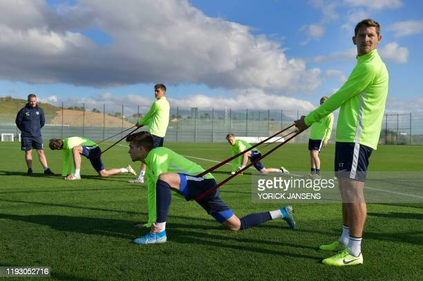 Genk's Ianis Hagi and Genk's Patrik Hrosovsky pictured during the winter training camp of Belgian first division soccer team KRC Genk in Benidorm...