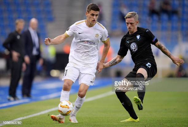 Ruslan Malinovskyi pictured in action during the UEFA Europa League Group I match between KRC Genk and Malmo at Cristal Arena on September 20 2018 in...