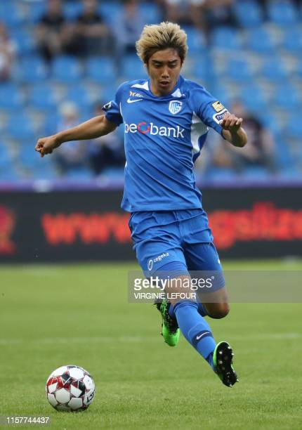Genk's Junya Ito pictured in action during a soccer game between KRC Genk and KV Mechelen, the supercup match between the respective champion of the...