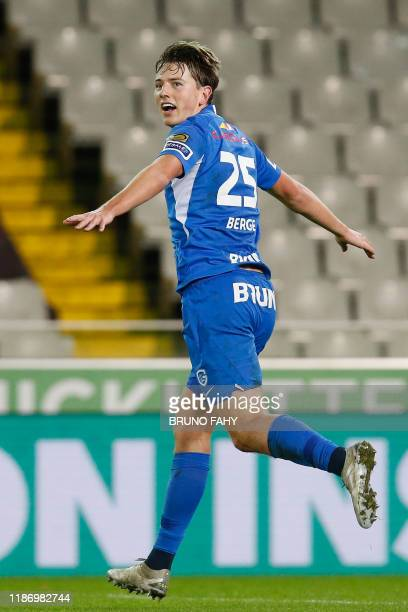 Genk's Sander Berge celebrates after scoring during a soccer match between Cercle Brugge KSV and KRC Genk Saturday 07 December 2019 in Brugge on day...