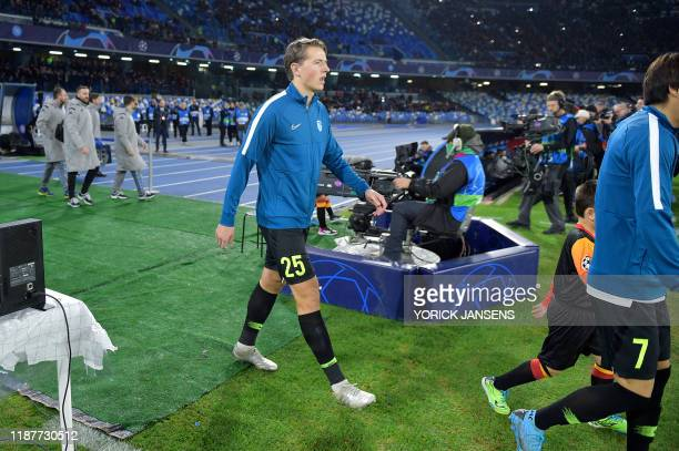 Genk's Sander Berge pictured before the start of the game between Belgian soccer team KRC Genk and Italian club SSC Napoli in Naples Italy Tuesday 10...
