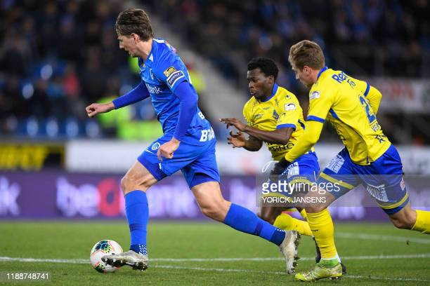 Genk's Sander Berge pictured in action during a soccer match between KRC Genk and WaaslandBeveren Saturday 14 December 2019 in Genk on day 19 of the...