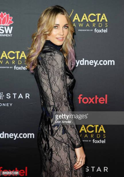 Genna Chanelle Hayes posesduring the 7th AACTA Awards at The Star on December 6 2017 in Sydney Australia
