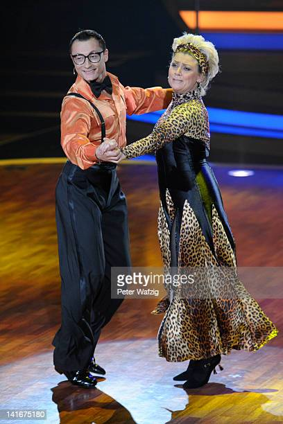 Gennady Bondarenko and Gitte Haenning perform during the 'Let's Dance' TV Show on March 21 2012 in Cologne Germany