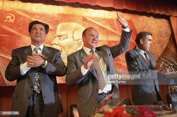 Gennady Zyuganov a member of the Communist Party who had challenged President Boris Yeltsin in the presidential elections of 1996 campaigns in the...