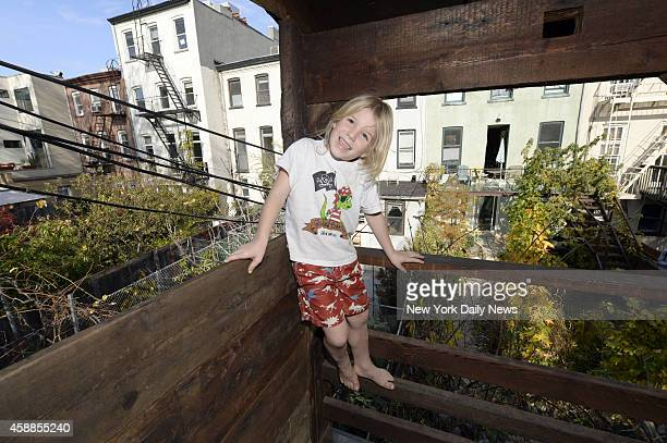 Gennaro BrooksChurch built a twostory tree house in his backyard for his three percosious children in the backyard of his 2nd Street home in Cobble...