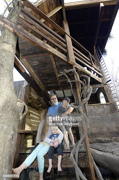 Gennaro Brooks-Church built a two-story tree house in his backyard for his three percosious children in the backyard of his 2nd Street home in Cobble...