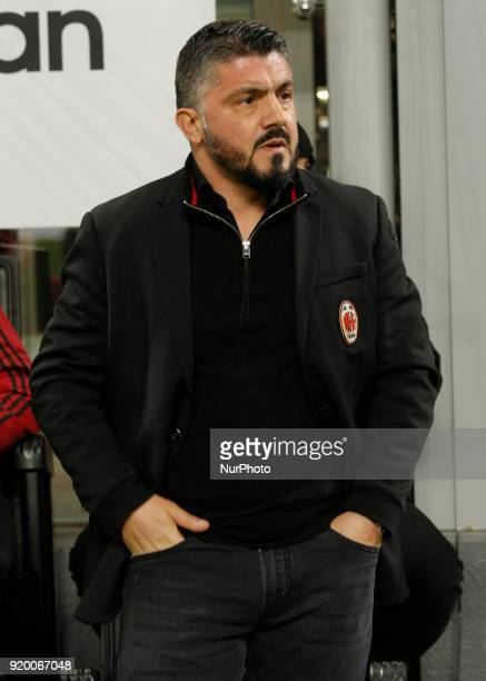 Gennaro Gattuso during the Italian Serie A football match between AC Milan and Sampdoria at the San Siro stadium in Milan on February 18 2018