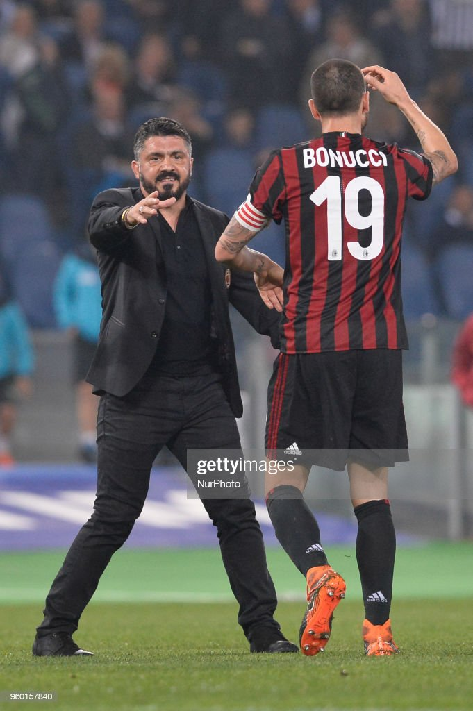 Gennaro Gattuso during the Tim Cup Final football match F.C. Juventus vs A.C. Milan at the Olympic Stadium in Rome, on May 09, 2018