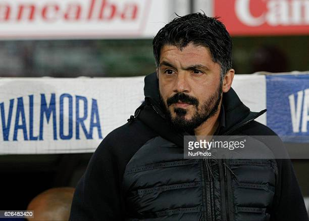 Gennaro Gattuso during Tim Cup 2016/2017 match between Torino v Pisa in Turin on November 29 2016