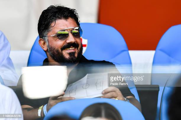 Gennaro Gattuso former coach of Milan before the Serie A match between Genoa CFC and Atalanta BC at Stadio Luigi Ferraris on September 15 2019 in...