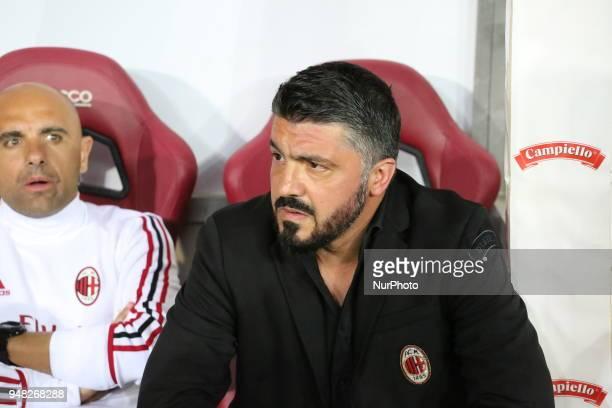 Gennaro Gattuso head coach of AC Milan before the Serie A football match between Torino FC and AC Milan at Olympic Grande Torino Stadium on April 18...