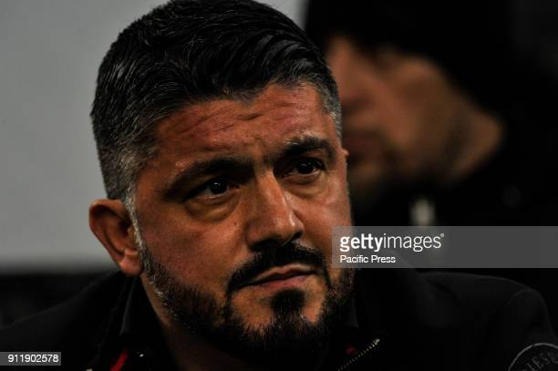 Gennaro Gattuso head coach of AC Milan during Serie A football AC Milan versus SS Lazio Ac Milan wins 21