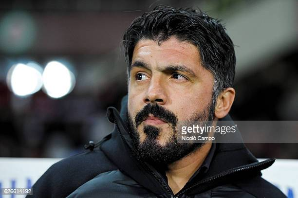 Gennaro Gattuso head coach of AC Pisa looks on before the TIM Cup football match between Torino FC and AC Pisa Torino FC wins 40 over AC Pisa
