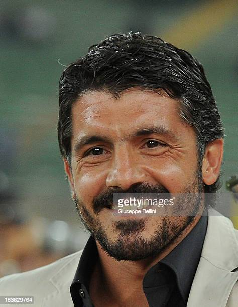 Gennaro Gattuso head coach of Palermo during the Serie B match between AS Bari and US Citta di Palermo at Stadio San Nicola on September 24 2013 in...