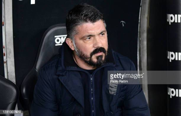 Gennaro Gattuso head coach of SSC Napoli before the Serie A match between Genoa CFC and SSC Napoli- Serie A at Stadio Luigi Ferraris on February 6,...