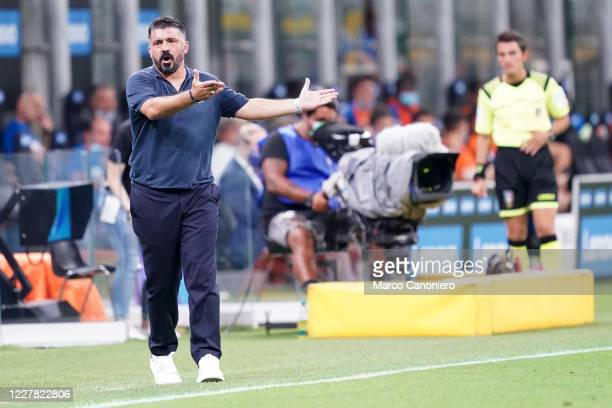 Gennaro Gattuso head coach of Ssc Napoli during the Serie A match between Fc Internazionale and Ssc Napoli Internazionale fc wins 20 over Ssc Napoli