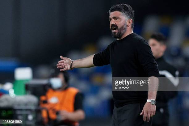Gennaro Gattuso manager of SSC Napoli during the Serie A match between SSC Napoli and Hellas Verona at Stadio Diego Armando Maradona, Naples, Italy...