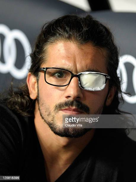 Gennaro Gattuso of AC Milan looks on during the Serie A match between AC Milan and Udinese Calcio at Stadio Giuseppe Meazza on September 21 2011 in...