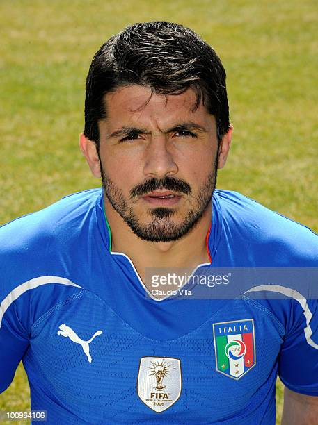 Gennaro Gattuso of Italy poses during the official Fifa World Cup 2010 portrait session on May 26 2010 in Sestriere near Turin Italy