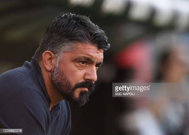 Gennaro Gattuso of Napoli during the Serie A match between Genoa CFC and SSC Napoli at Stadio Luigi Ferraris on July 8 2020 in Genoa Italy