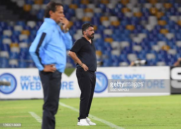 Gennaro Gattuso of Napoli during the Serie A match between SSC Napoli and SS Lazio at Stadio San Paolo on August 01 2020 in Naples Italy