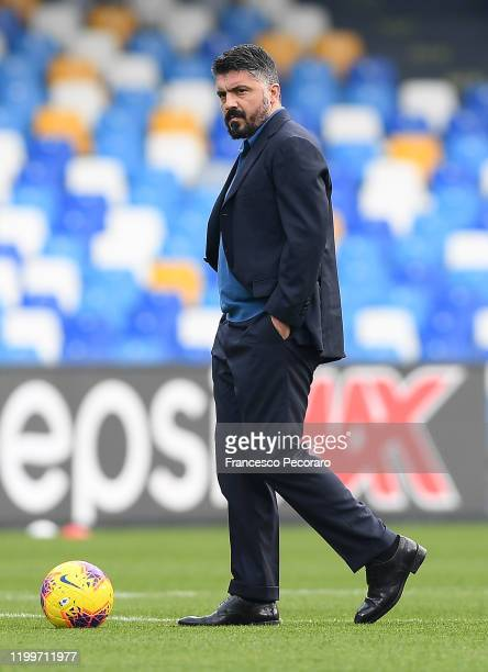Gennaro Gattuso SSC Napoli coach before the Coppa Italia match between SSC Napoli and Perugia on January 14 2020 in Naples Italy