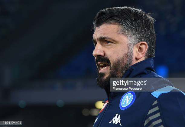Gennaro Gattuso SSC Napoli coach during the Serie A match between SSC Napoli and Parma Calcio at Stadio San Paolo on December 14 2019 in Naples Italy