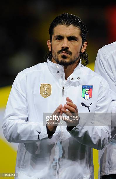 Gennaro Ivan Gattuso of Italy poses before the FIFA2010 World Cup Group 8 Qualifier match between Italy and Cyprus at the Tardini Stadium on October...