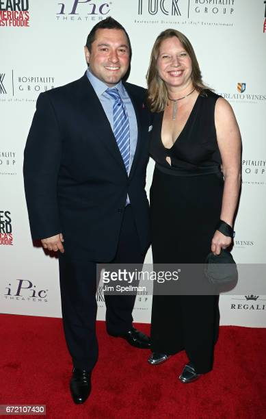 Gennaro Pecchia and coproducer Kathleen Squires attend the James Beard America's First Foodie NYC premiere at iPic Fulton Market on April 23 2017 in...