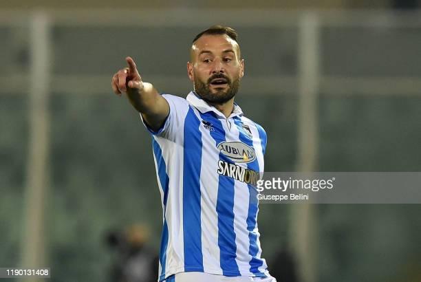 Gennaro Scognamiglio of Pescara Calcio in action during Serie B match between Pescara Calcio and US Cremonese at Adriatico StadiumGiovanni Cornacchia...