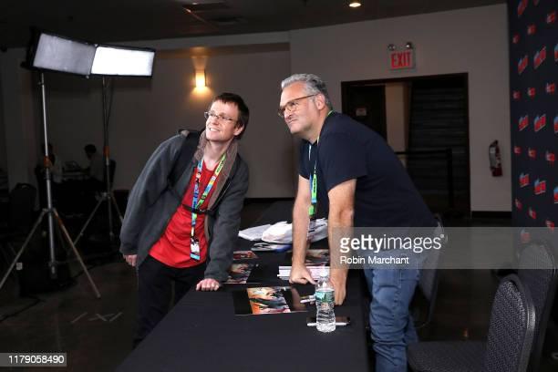 Genndy Tartakovsky greets fans at the Genndy Tartakovsky's Primal panel during New York Comic Con at Hammerstein Ballroom on October 04, 2019 in New...