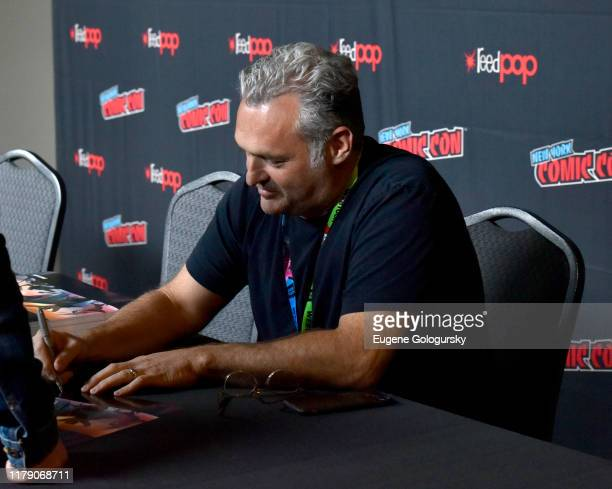 Genndy Tartakovsky signs autographs during New York Comic Con 2019 - Day 2 at Jacobs Javits Center on October 04, 2019 in New York City.