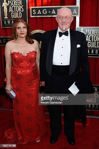 Gennera Banks and actor Jonathan Banks arrives at the 19th Annual Screen Actors Guild Awards held at The Shrine Auditorium on January 27 2013 in Los...