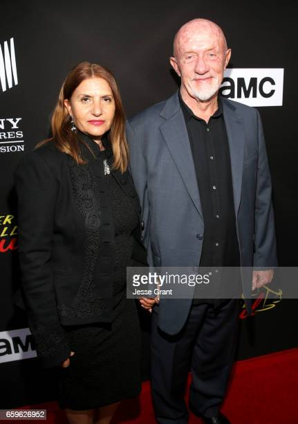 Gennera Banks and Actor Jonathan Banks attend AMC's Better Call Saul season 3 premiere at ArcLight Cinemas on March 28 2017 in Culver City California