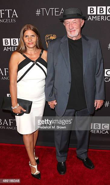 Gennera Banks and actor Jonathan Banks attend the 2015 BAFTA Los Angeles TV Tea at SLS Hotel on September 19 2015 in Beverly Hills California
