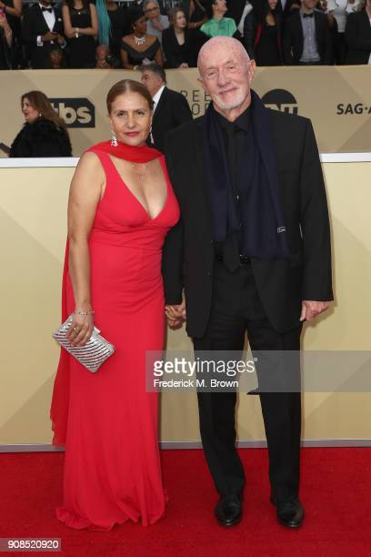 Gennera Banks and actor Jonathan Banks attend the 24th Annual Screen Actors Guild Awards at The Shrine Auditorium on January 21, 2018 in Los Angeles,...