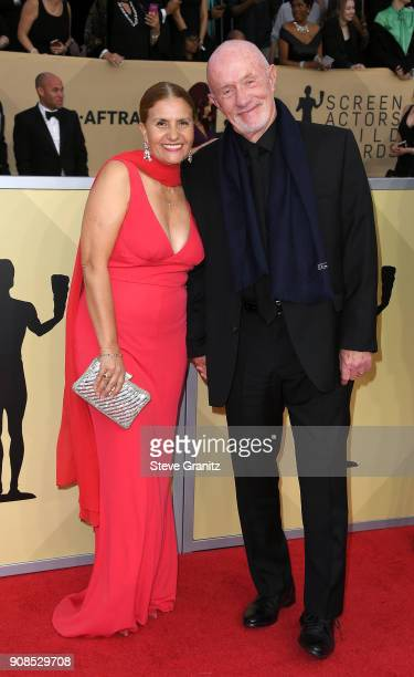 Gennera Banks and actor Jonathan Banks attend the 24th Annual Screen ActorsGuild Awards at The Shrine Auditorium on January 21 2018 in Los Angeles...