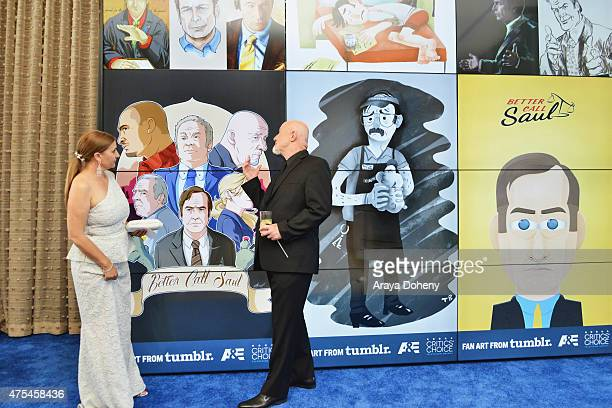 Gennera Banks and actor Jonathan Banks attend the 5th Annual Critics' Choice Television Awards at The Beverly Hilton Hotel on May 31 2015 in Beverly...