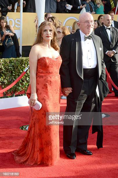 Gennera Banks and Jonathan Banks arrive at the 19th Annual Screen Actors Guild Awards held at The Shrine Auditorium on January 27 2013 in Los Angeles...